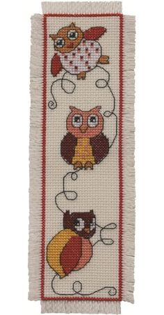 Image detail for -Owl Bookmark: Cross stitch (Permin, 05-2102)CUTE!