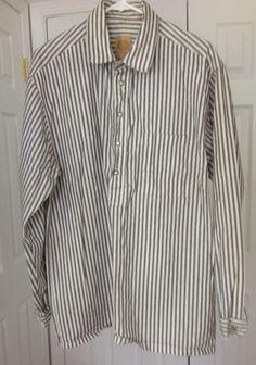 WahMaker Pullover Shirt Black and White Stripe Reenactment | vintagethrills - Clothing on ArtFire