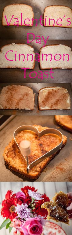 Valentine's Day Heart Shaped Cinnamon Toast for a Romantic Breakfast in Bed