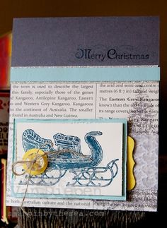 Open Sleigh, stampin up, kimberly van diepen