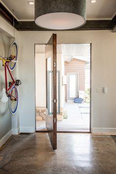 Pivot hinge entry system. This door is an Ezra Lee Design+Build original design.
