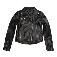 The all-seasons-essential leather Moto jacket: it's the embodiment of It-girl luxe.   To ensure our take on the iconic staple would outshine all rivals, we painstakingly planned and thoughtfully considered every detail, in style as much as function.   Formed from 100% supremely supple leather and finished with top-of-the-line hardware and design features, our essential Moto Jacket is first class from start to finish. The bodice's cropped length, angled lines, and figure-flattering paneling…