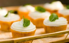 Peach Tea Cupcakes #pauladeen