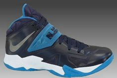 big sale 975e8 9f89c Nike Zoom Soldier VII 599263 401 Midnight Navy Metallic Silver Photo Blue