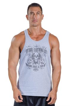 90b63e7731d43 Pitbull gym blood sweat tears tank top grey body lifting weight lifting   PitbullStringers  workoutgear. Pitbull Clothing
