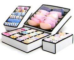 4 pcs boîte sous - vêtements chaussettes cravates Bras penderie organisateur tiroir pliage boîte de rangement organisateur boîte de conteneur de stockage(China (Mainland))