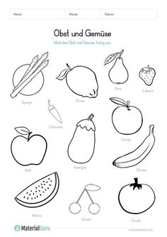 A free worksheet on the theme of fruits and vegetables, where children are asked to color black and white illustrations of fruits and vegetables. Download for free now!  #asked #children #fruits #theme #vegetables #where #worksheet