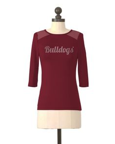 Mississippi State Bulldogs | Mesh Yoke Top | meesh & mia