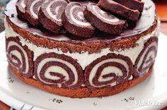 Érdekel a receptje? Hungarian Desserts, Hungarian Cake, Hungarian Recipes, Sweet Recipes, Cake Recipes, Dip Recipes, Pasta Cake, Torte Cake, Rainbow Food