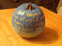 Brian's pumpkin backside