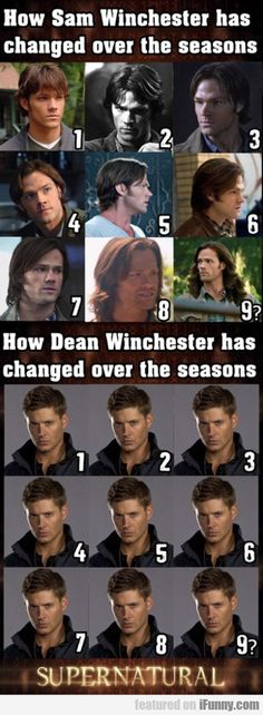 How Sam Winchester Has Changed Over The seasons of the show.  LOL, the last one of Sam, really??