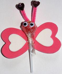 Lovebug Lollipop | Valentine Craft Ideas For Children