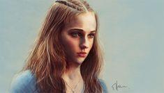 Sansa stark game of thrones illustration artworks