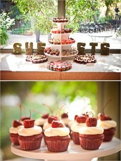 cupcake table by Kates Frosting