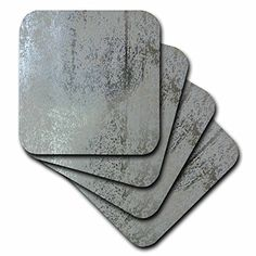 3dRose cst_40831_2 Light N Darker Metallic Silver-Soft Coasters, Set of 8 *** A special product just for you. See it now! : Christmas Decorations