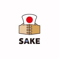 Japanese SAKE logo mark
