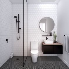Modern Small Bathroom Design The Basic Components of Modern Bathroom Designs Modern Small Bathroom Design. Incorporating a modern bathroom design will give you a more … Laundry In Bathroom, Basement Bathroom, Bathroom Interior, Master Bathroom, Bathroom Small, Bathroom Black, Simple Bathroom, Small Bathtub, Colorful Bathroom