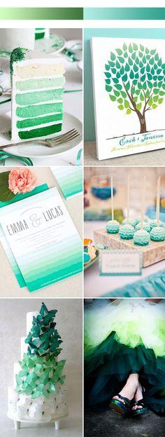 Unique Ombre Wedding Color Ideas for 2017 Spring Wedding 2017, Wedding Themes, Wedding Decorations, Wedding Ideas, Wedding Stuff, Wedding Cake, Dream Wedding, Wedding Color Combinations, Wedding Color Schemes