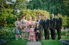 gray and pink bridal party | featured wedding at glen magna farms  http://blisscelebrationsguide.com/