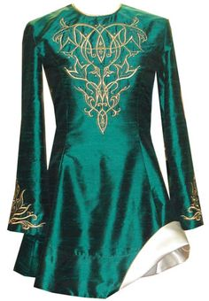 Inspiration for a doggie st patrick's day dress--  Adult Irish Dance Dresses