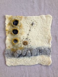 Wet felt, shibori, embroidery, beads. By Jean Manrique