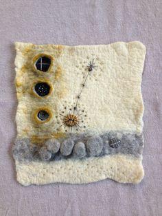 Wet felt, shibori, embroidery, beads. By Jean Manrique