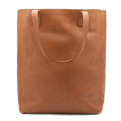 Cuyana - monogrammed CAL want Leather Tote (Tall) Caramel