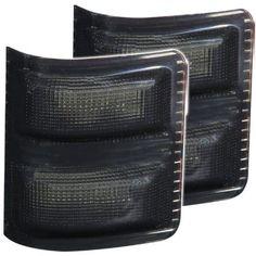 AnzoUSA 861103 Smoke/Amber (Grey/Amber) LED Mirror Turn Signal Light for