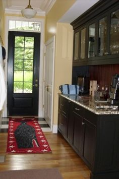 paint interior doors black--I need to do this for my door from the kitchen to the patio!
