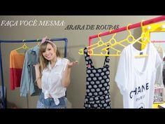 Ideia maravilhosa! Faça você mesma: Arara de Roupas - YouTube #DIY