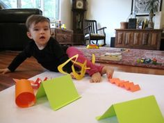 3D paper shapes for toddlers to explore