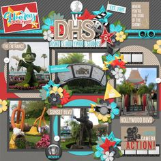 Magic of Hollywood Studios Kit, Magic of Hollywood Studios Journal Cards, Magic of Hollywood Studios Word Flair, and Magic of Hollywood Studios Word Art by Kellybell Designs Template {Altered} by Connie Prince