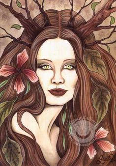 Druantia - Celtic Goddess of trees and fertility. She is a triple Goddess of fir trees.