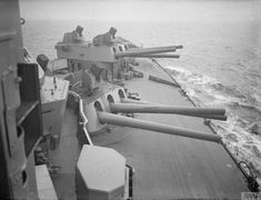 16 inch gun turrets and Unrotated Projectile launchers on HMS Nelson 1940 IWM A 1994 - Unrotated projectile - Wikipedia