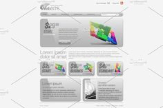 Gray Website Template by Sunny on @creativemarket