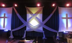 church design criss cross swags