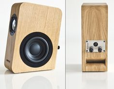 The Swiss-made Boenicke Audio monitor. Hand crafted of a solid block of wood with ultra premium components. This is the best desktop monitor money can buy. In fact, with a good subwoofer, the plays plenty big enough to use in your living room. Audiophile Speakers, Speaker Amplifier, Hifi Audio, Bluetooth Speakers, Wooden Speakers, Bookshelf Speakers, Speaker Box Design, Cool Desktop, Sound Speaker