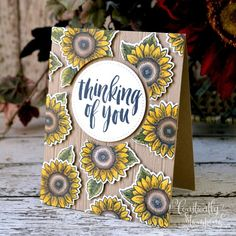 Sunflower Cards, Stampin Up, Card Making, Paper Crafts, Design Inspiration, Sunflowers, Fancy, June, Friday