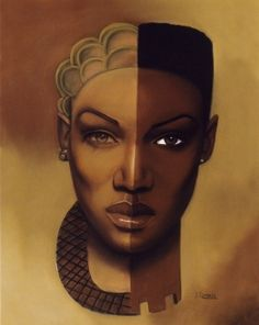 This art work: on the left I'm reminded of Tyra Banks and on the right, Grace Jones. Black is truly beautiful!