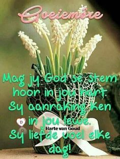 Evening Greetings, Goeie Nag, Goeie More, Afrikaans Quotes, Good Morning Wishes, Morning Quotes, Positive Thoughts, Things To Think About, Me Quotes