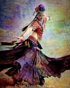 Tribal Dancebelly dance movement joy twirl happiness by hopeimages
