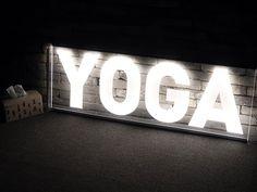 요가원 창문 사이즈에 딱 맞게 제작되어 설치하는 아크릴LED 창문간판 입니다. Flip Clock, Yoga, Decor, Decoration, Decorating, Yoga Tips, Dekorasyon, Dekoration, Yoga Sayings