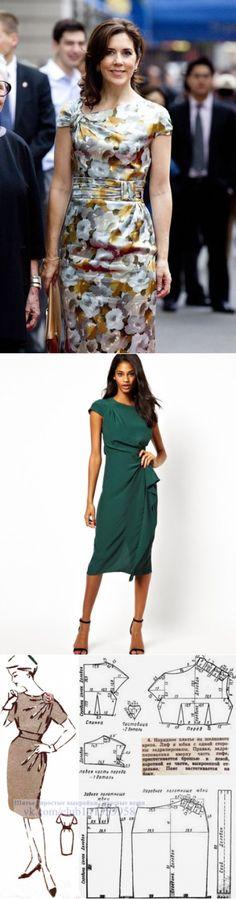 Шитье | простые выкройки | простые вещи.Актуальное ретро. Платье с драпировкой на плече и талии. Выкройка на размер 48 (рос.). Подборка фото Шитье | простые выкройки | простые вещи #простыевыкройки #простыевещи #шитье #платье #выкройка