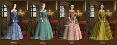 some of the Ladies from 'The Selection' series by Kiera Cass I made this forever ago but forgot to upload it from L to R America, Marlee, Kriss, Celeste. The Selection Selection Series, The Selection, Prom Dresses, Summer Dresses, Formal Dresses, First Art, Anime Outfits, Lady, Skirts