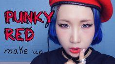 펑키 레드 메이크업 튜토리얼! (PUNKY RED make up tutorial)