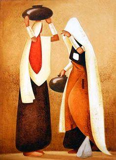 by Nitin Nangare African Art Paintings, Art Deco Paintings, Art Painting Gallery, Canvas Paintings, Fabric Canvas Art, Fabric Painting, Rajasthani Painting, Art Drawings For Kids, Easy Drawings