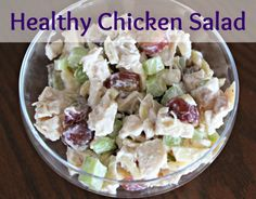 {Healthy} Chicken Salad made with greek yogurt- perfect for spring and summer!