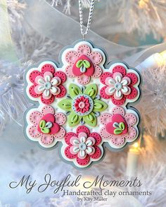 Handcrafted Polymer Clay Ornament
