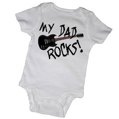 MY DAD ROCKS Bodysuits, Tees, Rock and Roll, Concert, Guitar, Music, Piano, Adorable, Baby, Infant, Newborn, Baby Shower, Party Favor on Etsy, $14.00