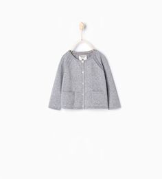 Image 1 of Garter stitch jacket from Zara